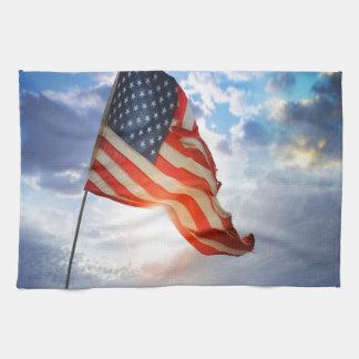 Bandera americana toalla