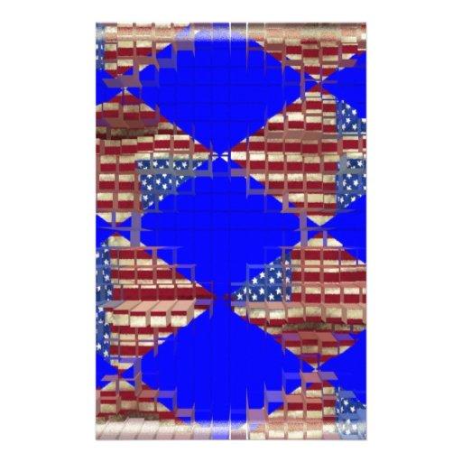 bandera americana papelería de diseño