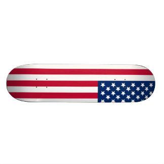 Bandera americana tabla de skate