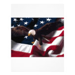 Bandera americana patriótica de Eagle Membrete Personalizado