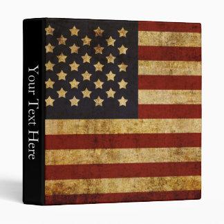 "Bandera americana patriótica de los E.E.U.U. del Carpeta 1"""