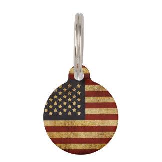 Bandera americana patriótica de los E.E.U.U. del Identificador Para Mascota