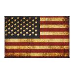 Bandera americana patriótica de los E.E.U.U. del Impresión En Lona Estirada