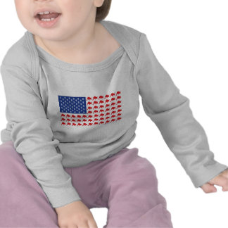 Bandera americana patriótica de Wall Street Camisetas