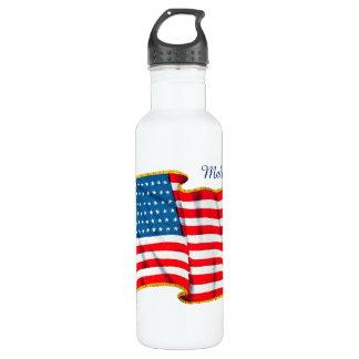 Bandera americana patriótica del vintage, cuarto