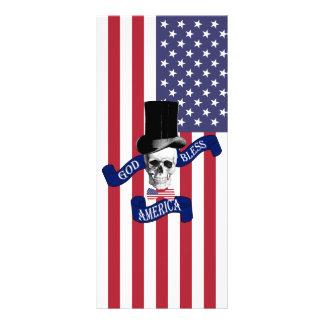 Bandera americana patriótica diseño de tarjeta publicitaria