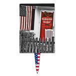 Bandera americana patriótica en el primero de la t decoraciones para tartas