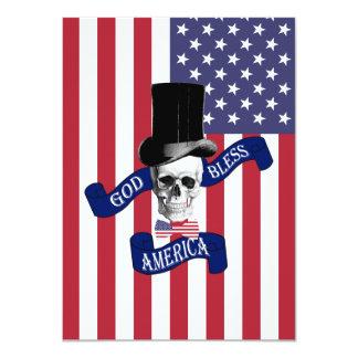 """Bandera americana patriótica invitación 4.5"""" x 6.25"""""""