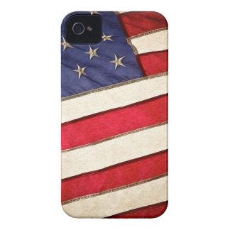 Bandera americana patriótica iPhone 4 cárcasa