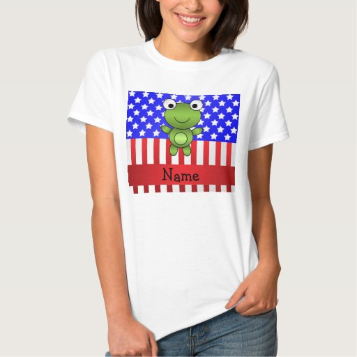 Bandera americana patriótica personalizada de la playeras