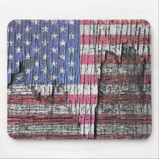 Bandera americana patriótica pintada peladura del tapete de raton