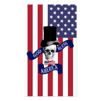 Bandera americana patriótica tarjeta de negocio