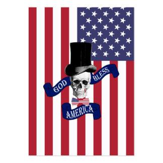 Bandera americana patriótica tarjetas de visita grandes