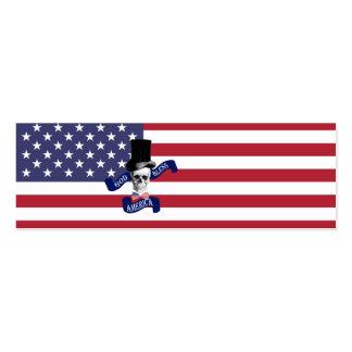 Bandera americana patriótica tarjetas de visita mini