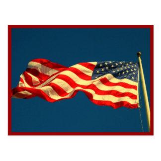 Bandera americana patriótica tarjetas postales