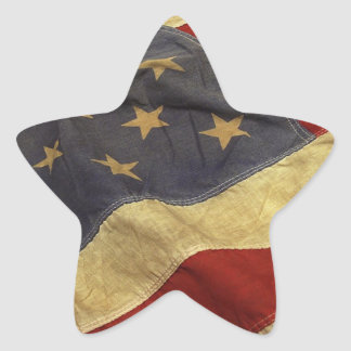 Bandera americana pegatinas forma de estrellaes