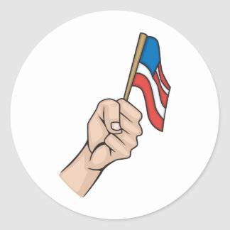 Bandera americana etiquetas redondas