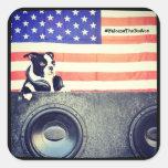 Bandera americana, pegatina de Boston Terrier