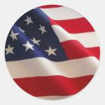 Bandera americana pegatina redonda