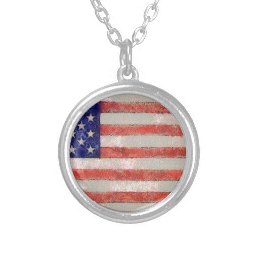 Bandera americana pendientes personalizados