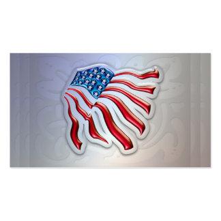 Bandera americana personal o tarjetas de visita