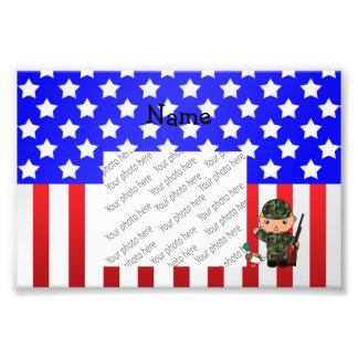 Bandera americana personalizada del cazador fotografías