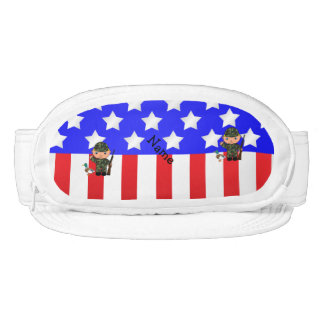 Bandera americana personalizada del cazador visera