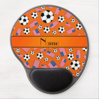 Bandera americana personalizada del fútbol alfombrilla de raton con gel