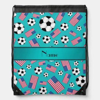Bandera americana personalizada del fútbol conocid mochila