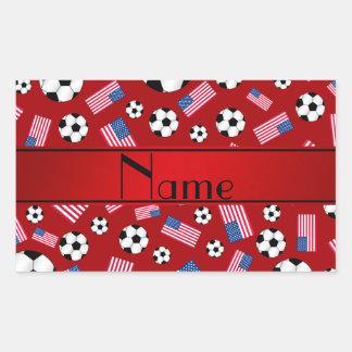 Bandera americana personalizada del fútbol rojo rectangular altavoces