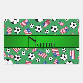 Bandera americana personalizada del fútbol verde rectangular altavoces