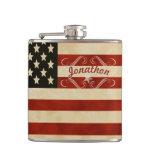 Bandera americana personalizada del vintage del fr