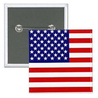 Bandera americana pin cuadrado