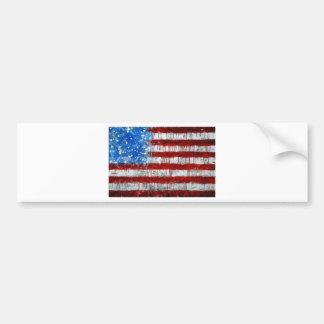 Bandera americana pintada pegatina de parachoque