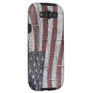 Bandera americana pintada en textura de la pared galaxy SIII cobertura
