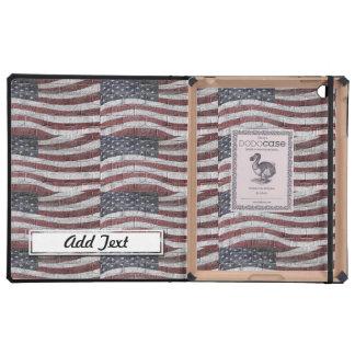 Bandera americana pintada en textura de la pared iPad carcasas
