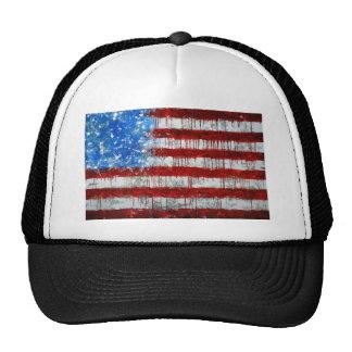 Bandera americana pintada gorros bordados