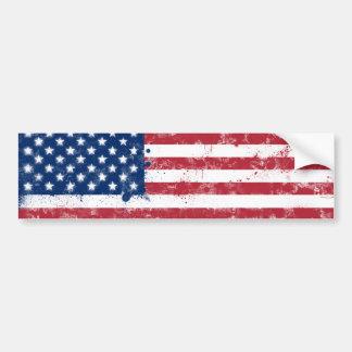 Bandera americana pintada salpicadura pegatina de parachoque