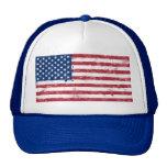 Bandera americana pintada salpicadura gorra