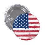 Bandera americana pintada salpicadura pin