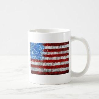 Bandera americana pintada tazas