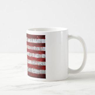 Bandera americana pintada taza de café