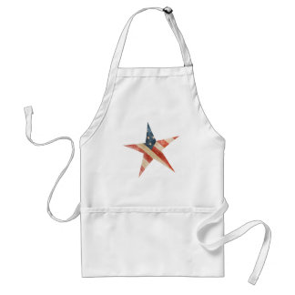 Bandera americana pintada vintage de la estrella delantal