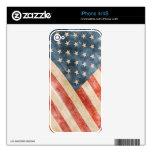 Bandera americana pintada vintage de la mirada skins para iPhone 4S
