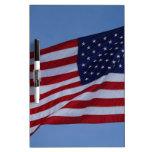 Bandera americana pizarras blancas