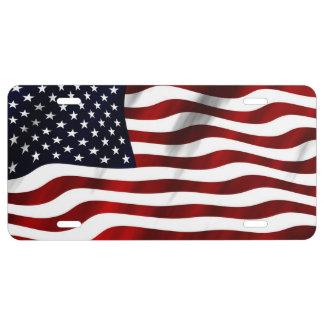 Bandera americana placa de matrícula