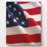 Bandera americana placa de plastico