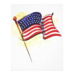 bandera americana plantillas de membrete