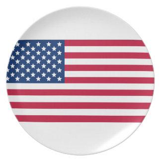 Bandera americana plato