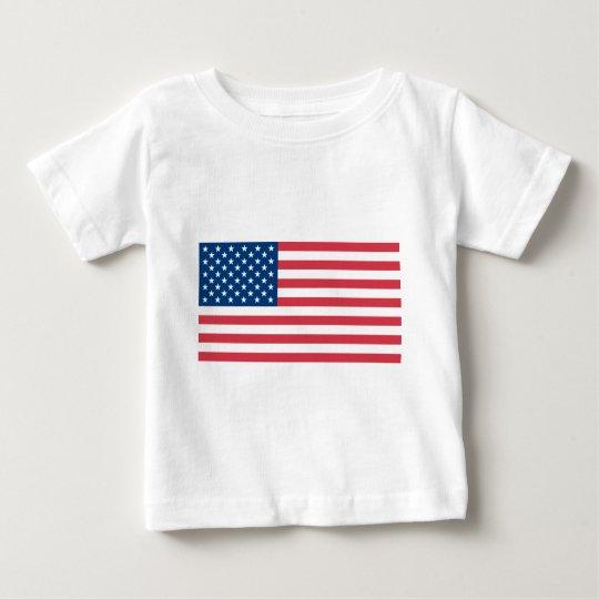 Bandera americana playera de bebé
